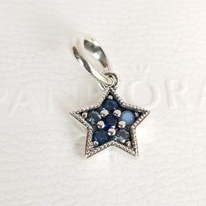 Pandora Bright Star Dangle Charm Multi-Colored